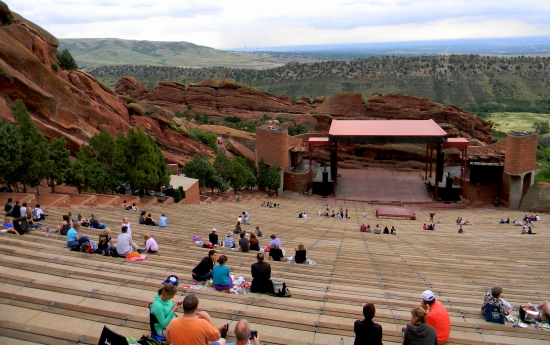 Red Rocks from the top