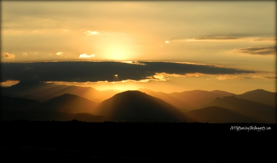 Rocky Mountain Golden Sunset with Copy